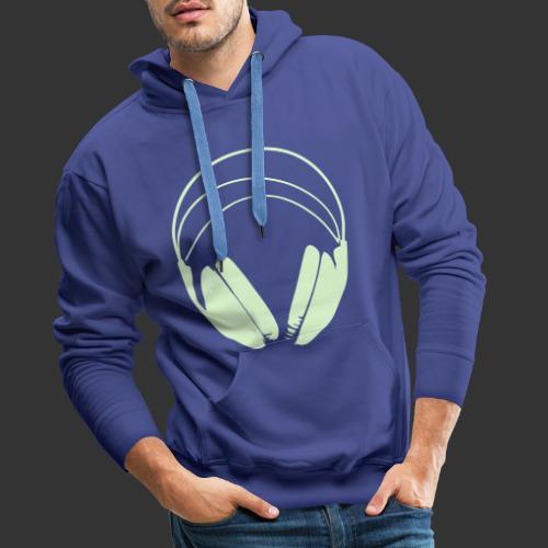 Casque blanc, logo de podradio vectorisé - Sweat-shirt à capuche Premium pour hommes