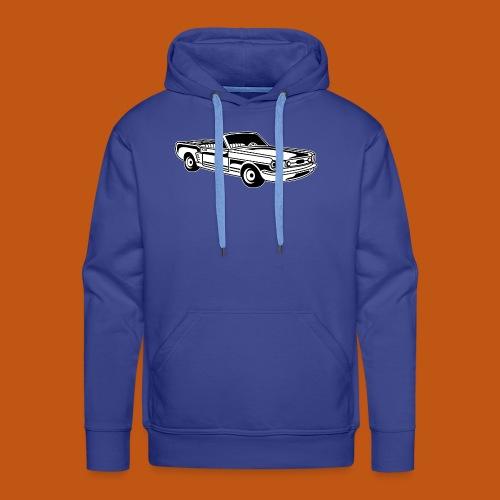 Cabrio / Muscle Car 02_schwarz weiß - Männer Premium Hoodie