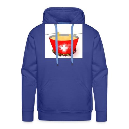 Einzigartiges Schweizer Fondue T-Shirt - Männer Premium Hoodie