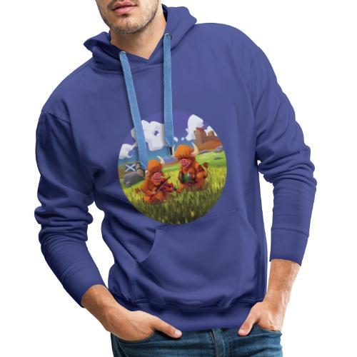 Highland cows from Scotland - Sweat-shirt à capuche Premium pour hommes