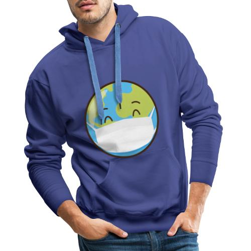Mundo mascarilla - Sudadera con capucha premium para hombre