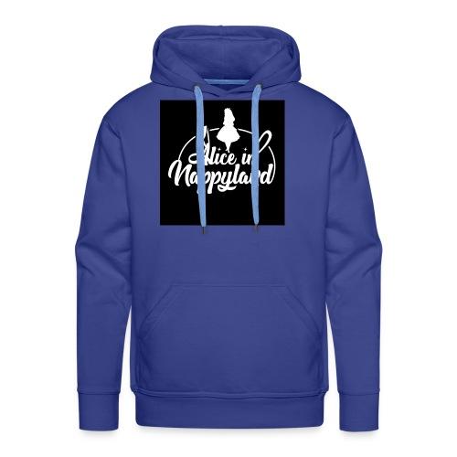 Alice in Nappyland TypographyWhite 1080 - Men's Premium Hoodie