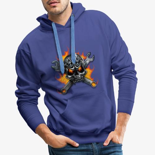 biker style - Sweat-shirt à capuche Premium pour hommes