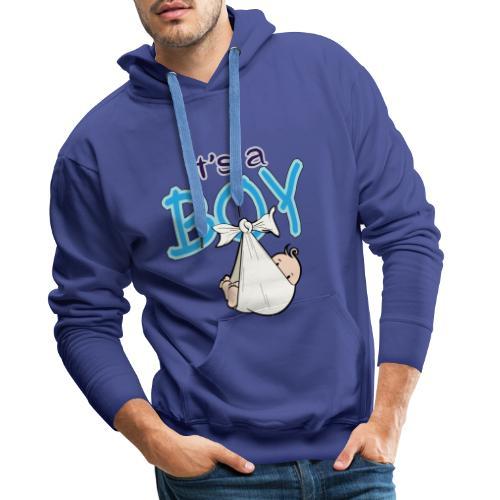 Babyshower Boy Blauw - Mannen Premium hoodie