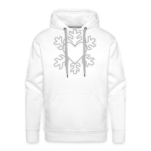 Flocon coeur 3D - Sweat-shirt à capuche Premium pour hommes