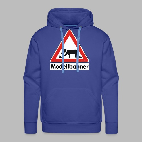 Warnschild Modellbahner E Lok - Männer Premium Hoodie