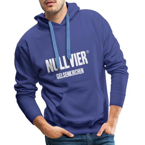 NULLVIER WHITE - Männer Premium Hoodie