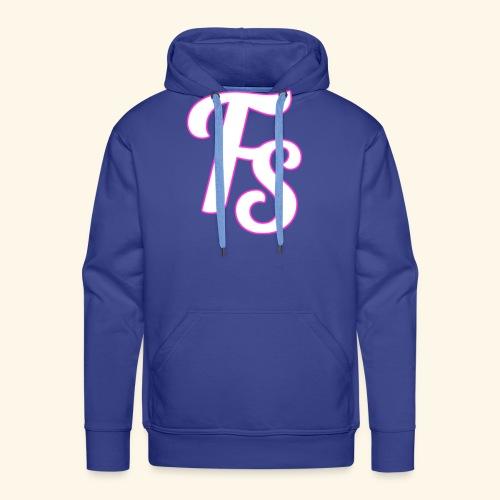 fs logo met een roze out line - Mannen Premium hoodie