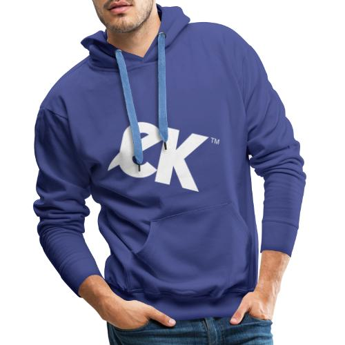 EK logo blanc # 1 - Sweat-shirt à capuche Premium pour hommes
