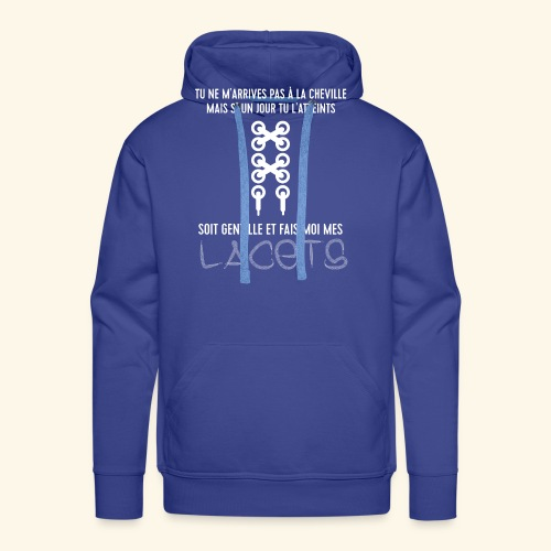 cheville et lacets - Sweat-shirt à capuche Premium pour hommes