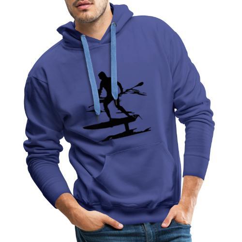 Voler sur l'eau en stand-up-paddle ! - Sweat-shirt à capuche Premium pour hommes