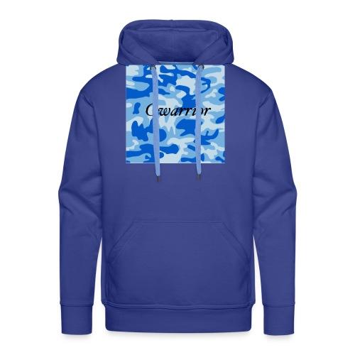 GWARRIOR BLUE CAMMO TSHIRT - Men's Premium Hoodie