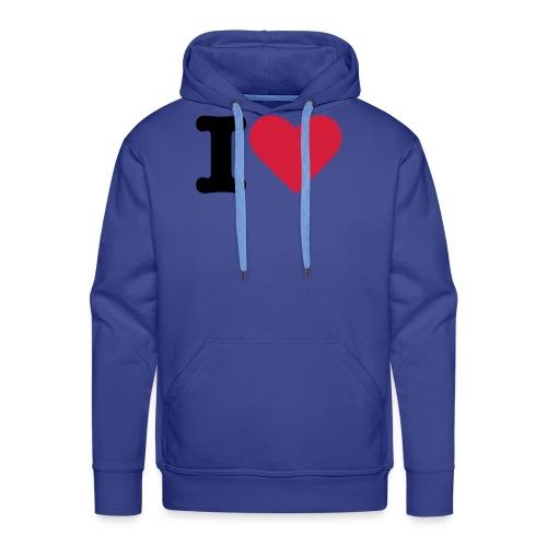 Ik hou - Mannen Premium hoodie