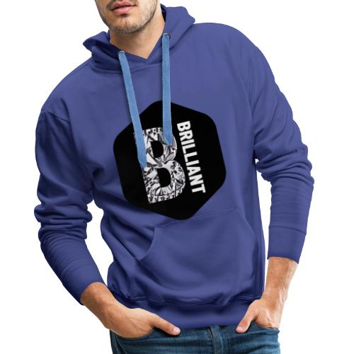 B brilliant black - Mannen Premium hoodie