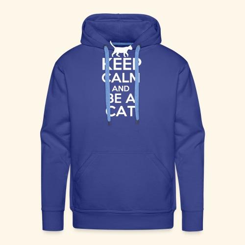 Keep Calm Katzen T-Shirt Englisch - Männer Premium Hoodie