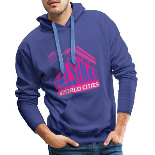 Helsinki2 pink2 - Men's Premium Hoodie