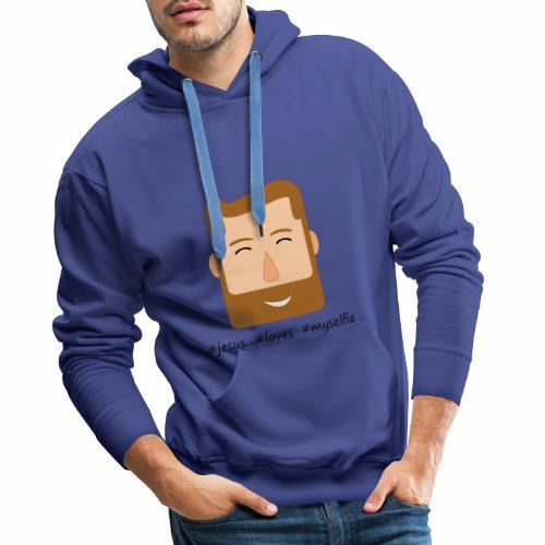 jesus loves myselfie - Männer Premium Hoodie
