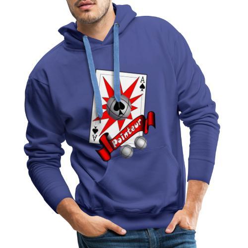 t shirt petanque as des pointeurs boules - Sweat-shirt à capuche Premium pour hommes