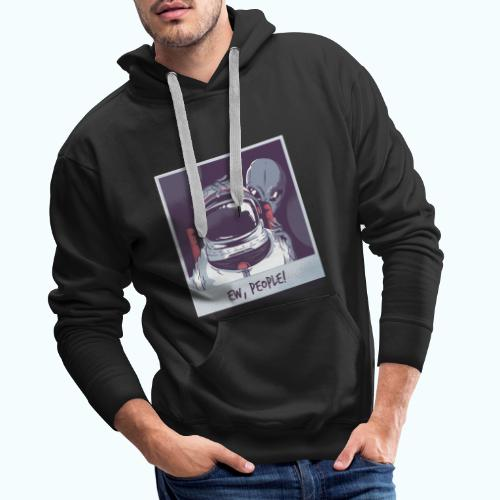 Aliens and astronaut - Men's Premium Hoodie