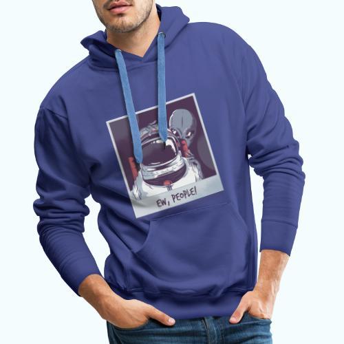 Aliens and astronaut - Men's Premium Hoodie