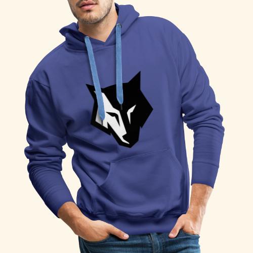Loup noir et blanc - Sweat-shirt à capuche Premium pour hommes