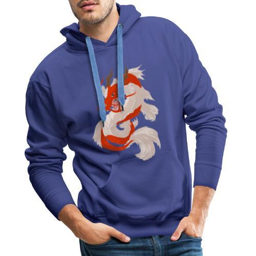 Dragon koi - Felpa con cappuccio premium da uomo