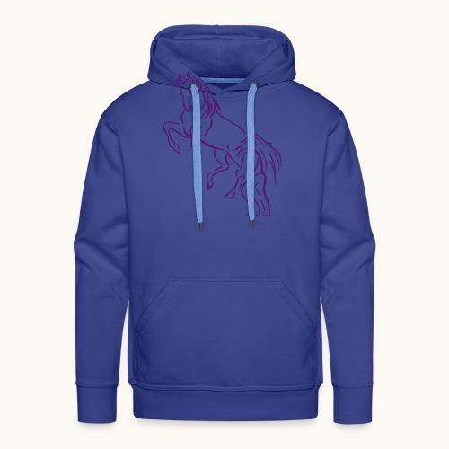 Rising Horse Floor Work cadeau amour fierté - Sweat-shirt à capuche Premium pour hommes