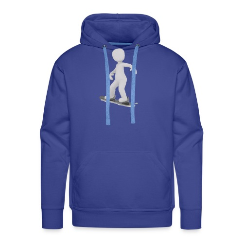LULU FAIT DU SNOWBOARD - Sweat-shirt à capuche Premium pour hommes