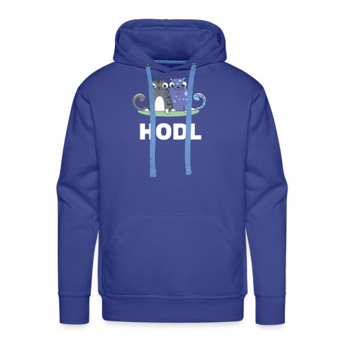 Kitty HODL white - Men's Premium Hoodie