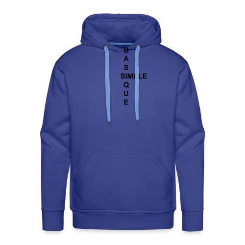 simple2 - Sweat-shirt à capuche Premium pour hommes