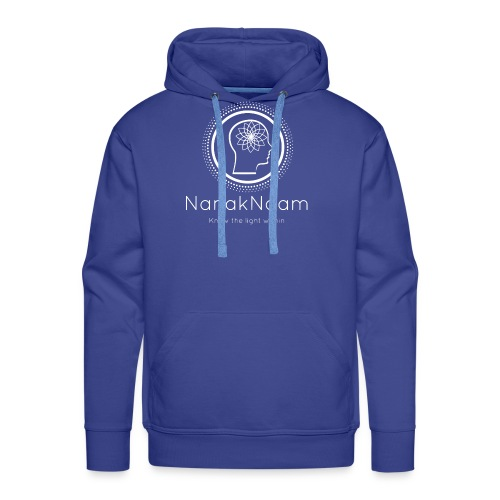 Nanak Naam Logo and Name - White - Men's Premium Hoodie