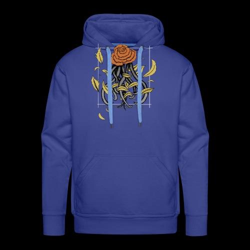 Rose octopus - Sweat-shirt à capuche Premium pour hommes