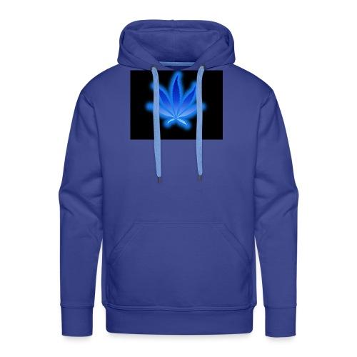 marijuana leaf blue 1 - Bluza męska Premium z kapturem