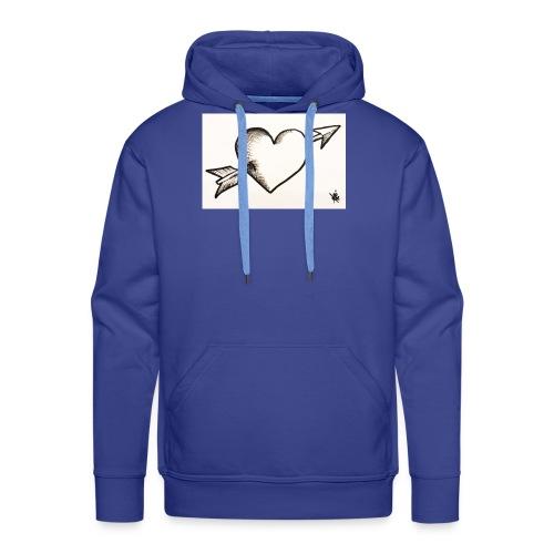Break Heart - Sweat-shirt à capuche Premium pour hommes