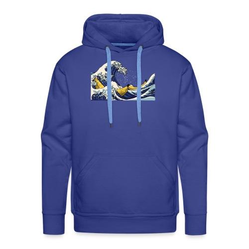 De golf van Banana - Mannen Premium hoodie