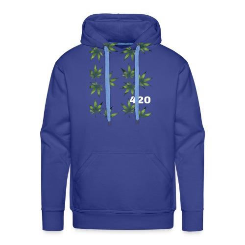 420 Weed Leafs - Männer Premium Hoodie