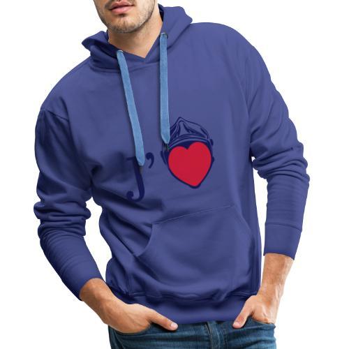 j aime les pompiers - Sweat-shirt à capuche Premium pour hommes