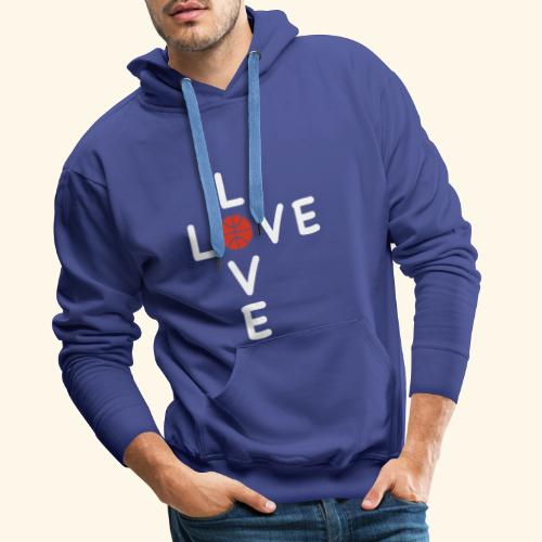 LOVE Cross basketball red 001 - Männer Premium Hoodie