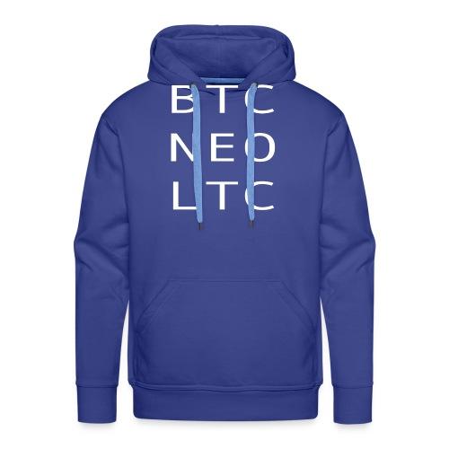 BTC NEO LTC WHITE - Men's Premium Hoodie
