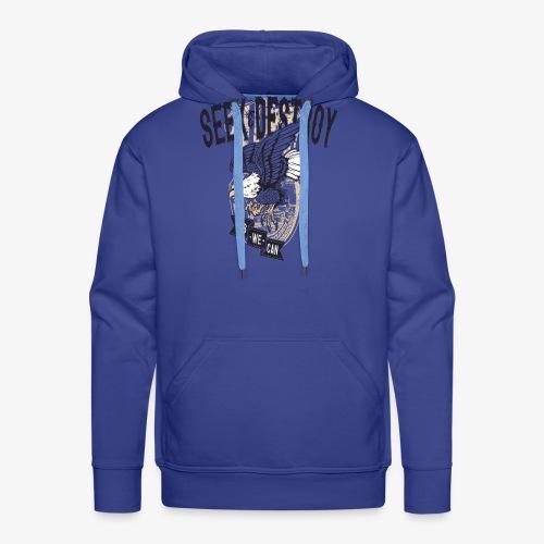 Seek Destroy - Chemises - Sweat-shirt à capuche Premium pour hommes