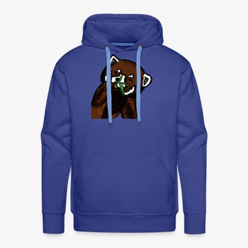 Cute red panda with Bamboo Wildlife T-Shirt - Men's Premium Hoodie