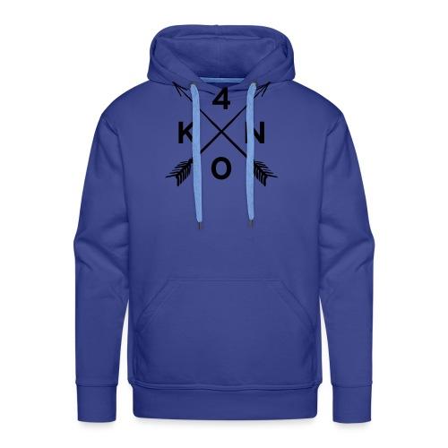 Logo_40knots_weiß - Männer Premium Hoodie