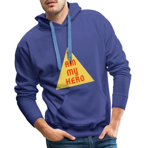 Le triangle I am my hero - Sweat-shirt à capuche Premium pour hommes