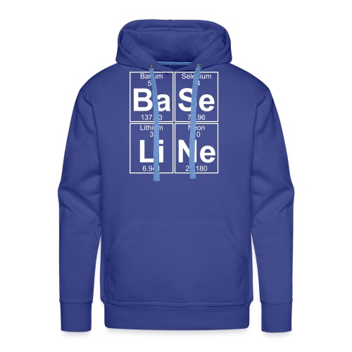Ba-Se-Li-Ne (baseline) - Full - Men's Premium Hoodie