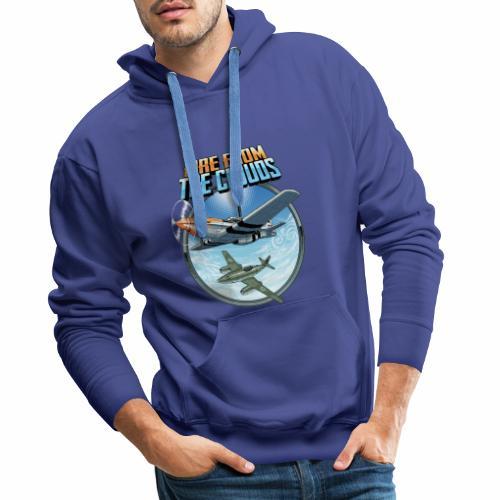 Le feu des nuages - Sweat-shirt à capuche Premium pour hommes