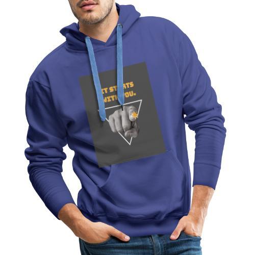 t-shirt tendence otone-hiver 2019-2 - Sweat-shirt à capuche Premium pour hommes