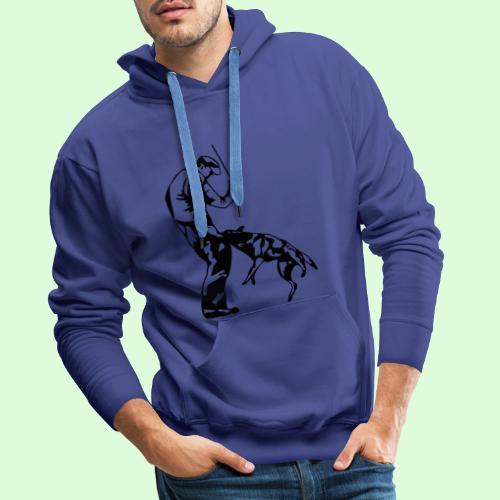 Berger Belge Malinois, l'ombre mordante - Sweat-shirt à capuche Premium pour hommes
