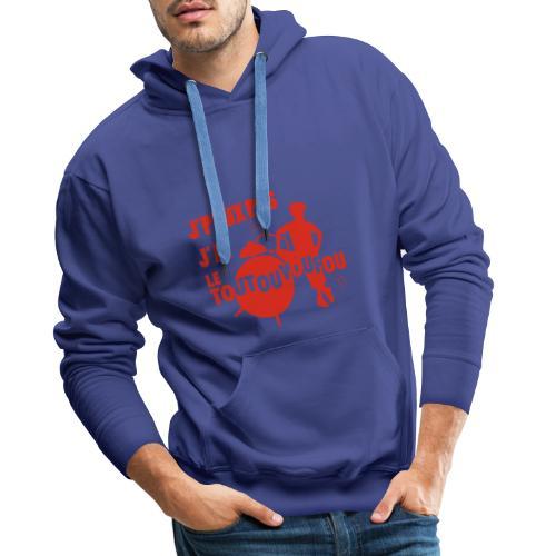 JPEUXPAS ROUGE - Sweat-shirt à capuche Premium pour hommes