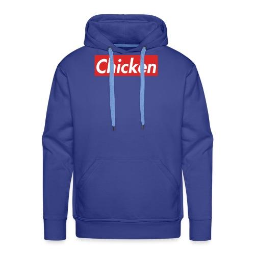 ChickenWhiteText - Men's Premium Hoodie