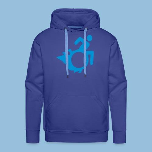 Roller met vlammen 004 - Mannen Premium hoodie